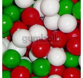"Red White & Green Gumballs (1""/850count)"