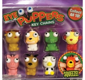 "Eye Poppers Keychains 2"" Toy Capsules"